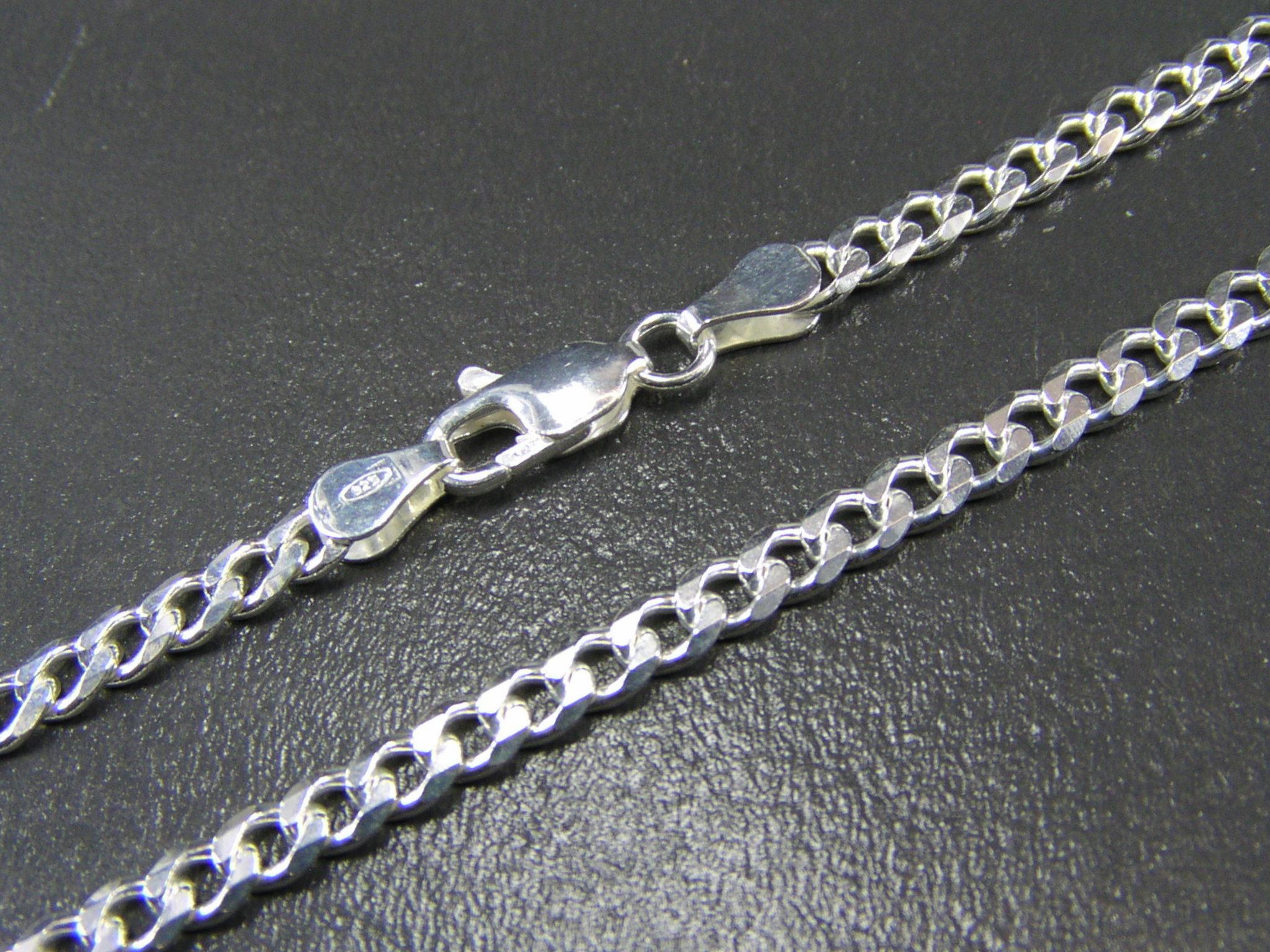 Panzerkette-Silberkette-Echt-Silber-925-Sterlingsilber-Halskette-Silberarmband